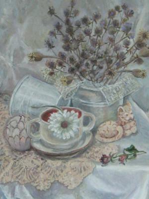 Ерошенко Евгения. «Белый натюрморт». Холст, масло. 2013 г.