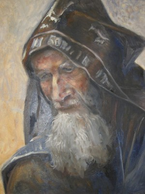 Аминова Эльвира Шерифовна «Портрет монаха». Холст, масло. 2016 г.