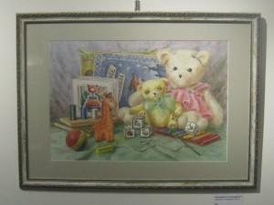 Юлия Воробьева. «Натюрморт с игрушками». Бумага, акварель. 2015 г.